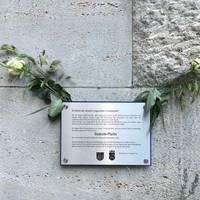 Gedenkplatte am Salzunger Rathaus