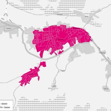 Karte Breitbandausbau Bad Salzungen [(c) Telekom]