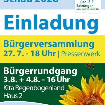 Plakat Bürgerversammlung [(c) Andrea Dominik]